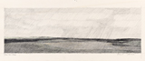 1981<br />Pencil on paper<br />14 x 33 cm<br />Collection of the Artist<br />Some of Tanabe's most compelling works feature the horizon as a central visual element. From early works such as <i>Variations on a Theme, Denmark, The Land #5 (Circa 1954)</i> to a later series which includes <i>Near Chain Lakes (1981), West of High River (1981)</i> and <i>Foothills, South of Pincher Creek (1981)</i>, Tanabe has exhibited a fascination with the horizon, which divides land from sky, <i>terra firma</i> from atmosphere. The horizon, as a perspectival device, situates the viewer in relation to a point in the distance; it also has the peculiar power of drawing the eye into its expanse.